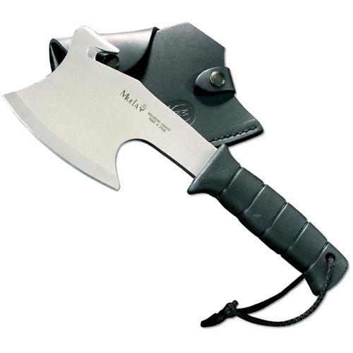 "Muela 00456 MM-HG-S, 11"" Hatchet, FT Polymer Handle, Black Leather Sheath"