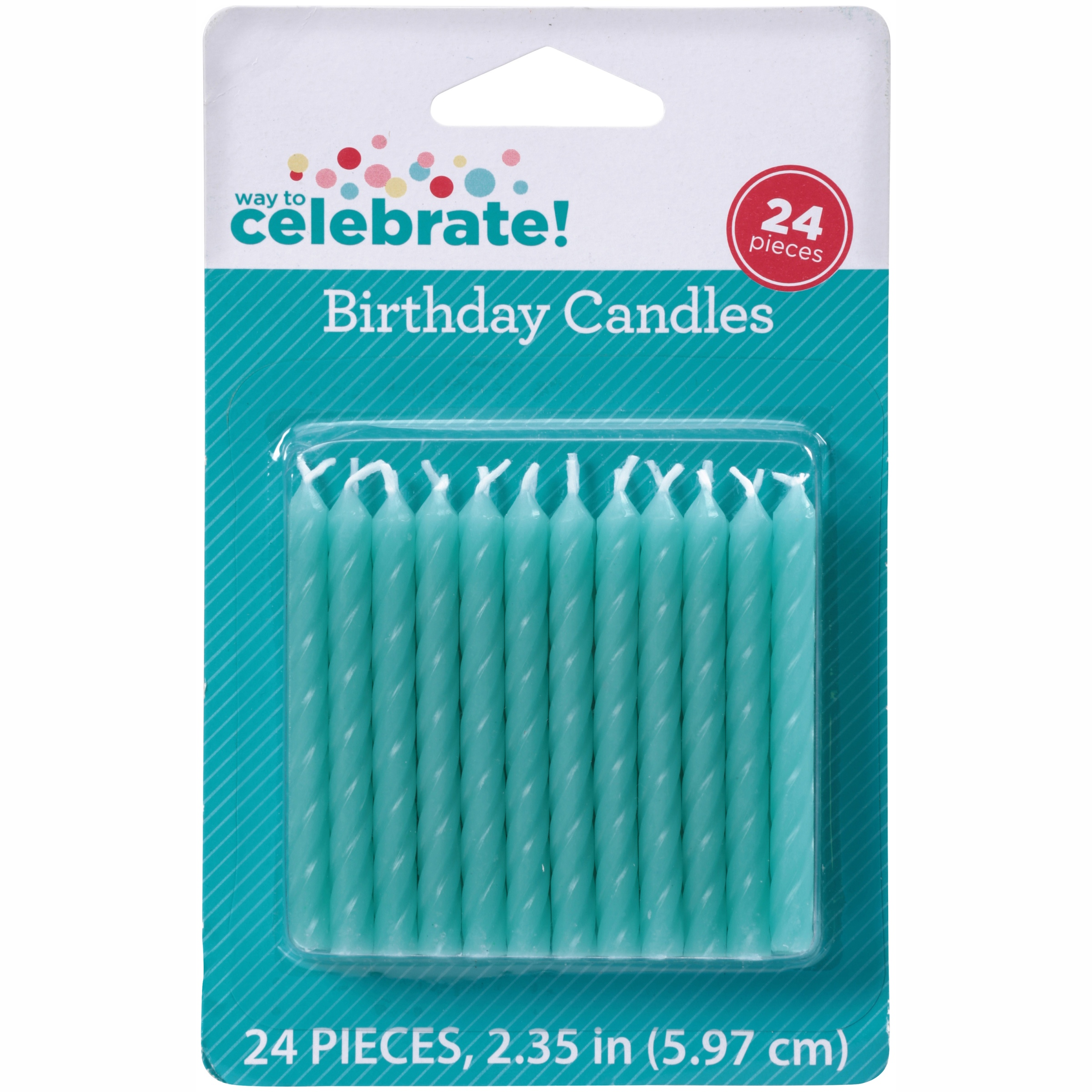 (4 Pack) Way to Celebrate! Birthday Candles 24 ct Carded Pack