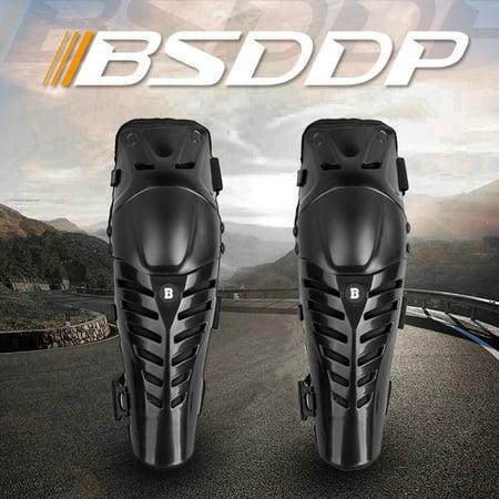 Knee Pads Adjustable Long Leg Sleeve Crashproof Antislip Shin Guards for Motorcycle Mountain Biking - image 2 de 7
