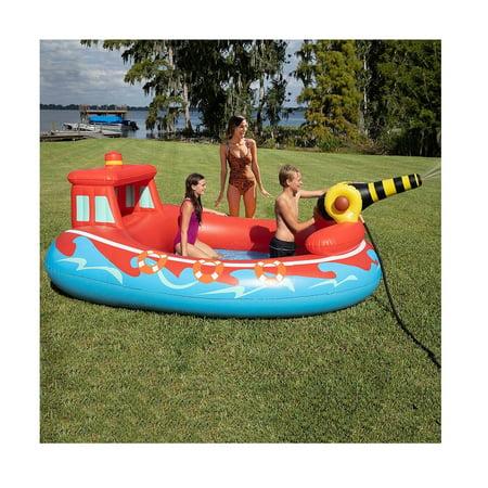 Sun Pleasure Inflatable Fire Truck Sprayer Kiddie Pool Sun Swimming Pool