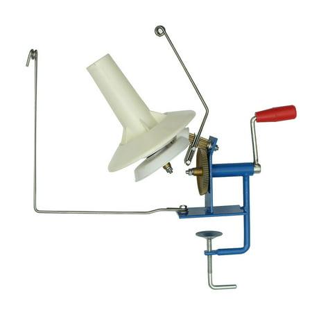 10oz Manual Heavy Duty Metal Yarn Fiber Wool Ball Winder Hand Operated Needle craft Tool Machine for DIY Crocheting & Knitting Art ()