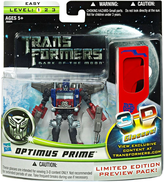 Transformers Cyberverse Deluxe Optimus Prime Action Figure [With 3-D Glasses]
