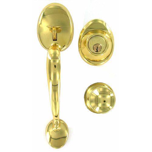 Schlage JH60VBARXBYR605 Bright Brass Single Cylinder Handle Sets