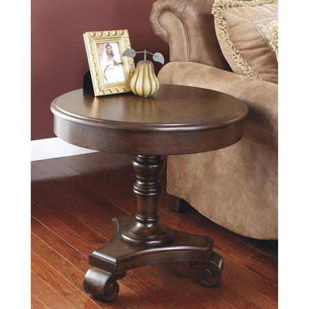 Signature Design By Ashley Brookfield Round End Table  Dark Brown