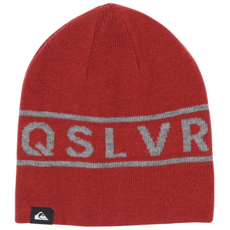 Quiksilver Mens Knox Reversible Beanie - Ketchup Red/Gray & Red Quiksilver Reversible Hat