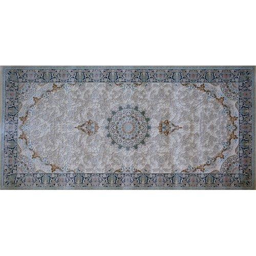 Astoria Grand Mcneese Hand Look Persian Wool Brown/Blue Area Rug