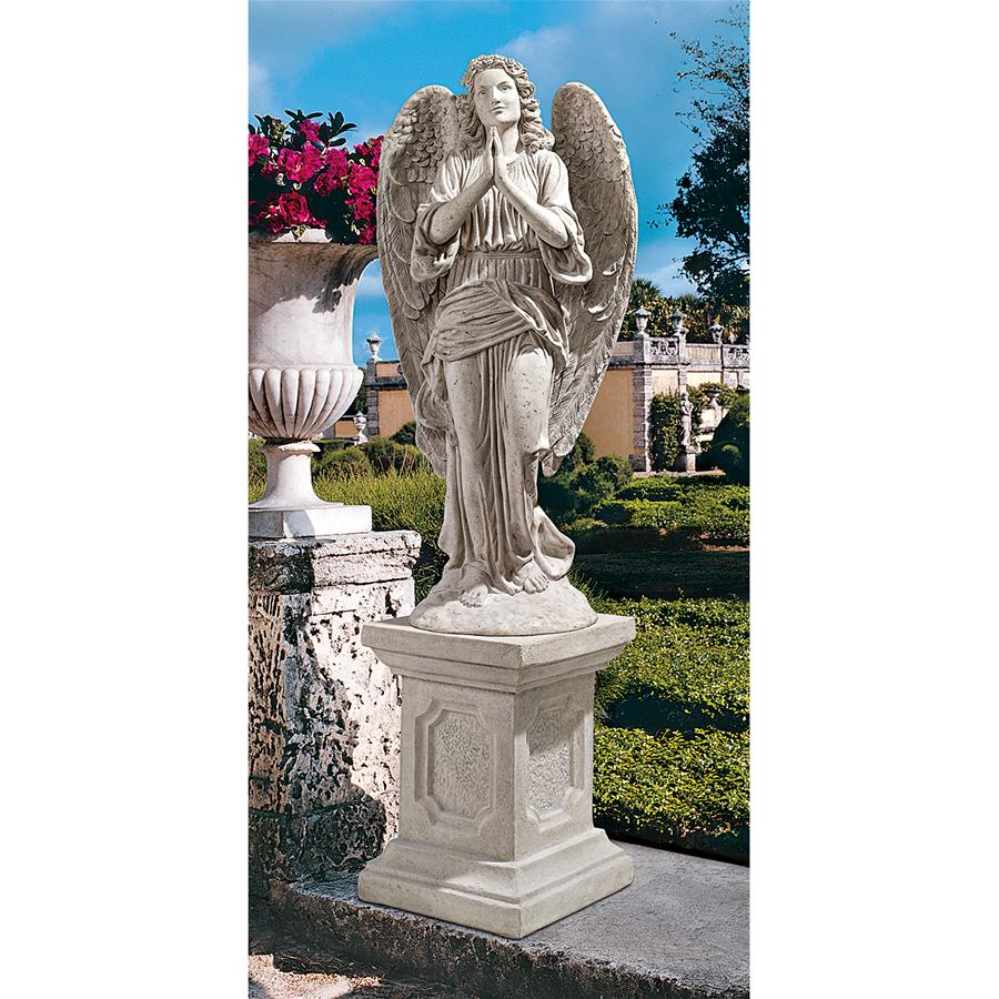 Grand Basilica Praying Angel Garden Statue by Design Toscano