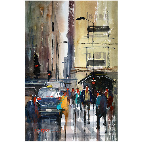 "Trademark Fine Art ""Rush Hour II - Chicago"" Canvas Art by Ryan Radke"