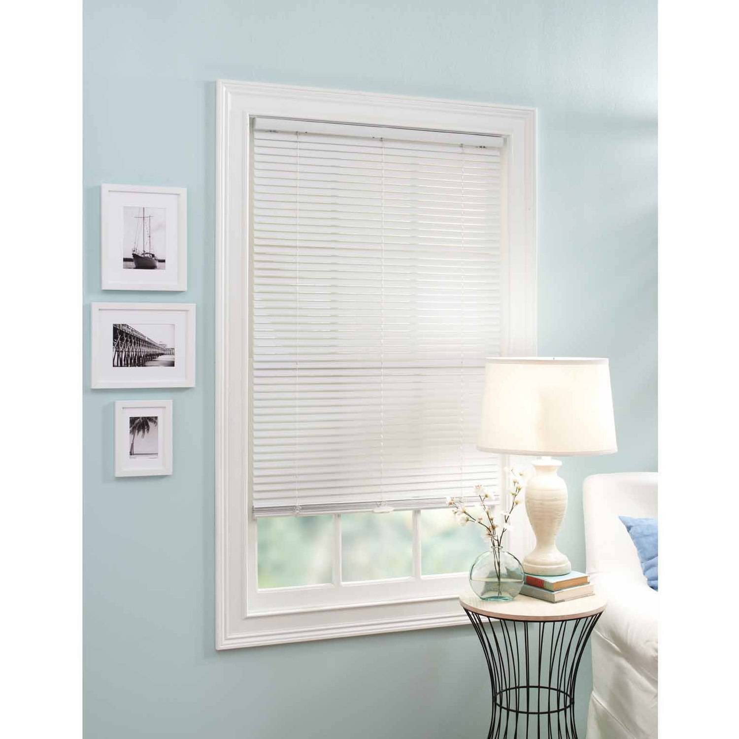 "Better Homes and Garden 1"" Vinyl Cordless Mini Blind, White"
