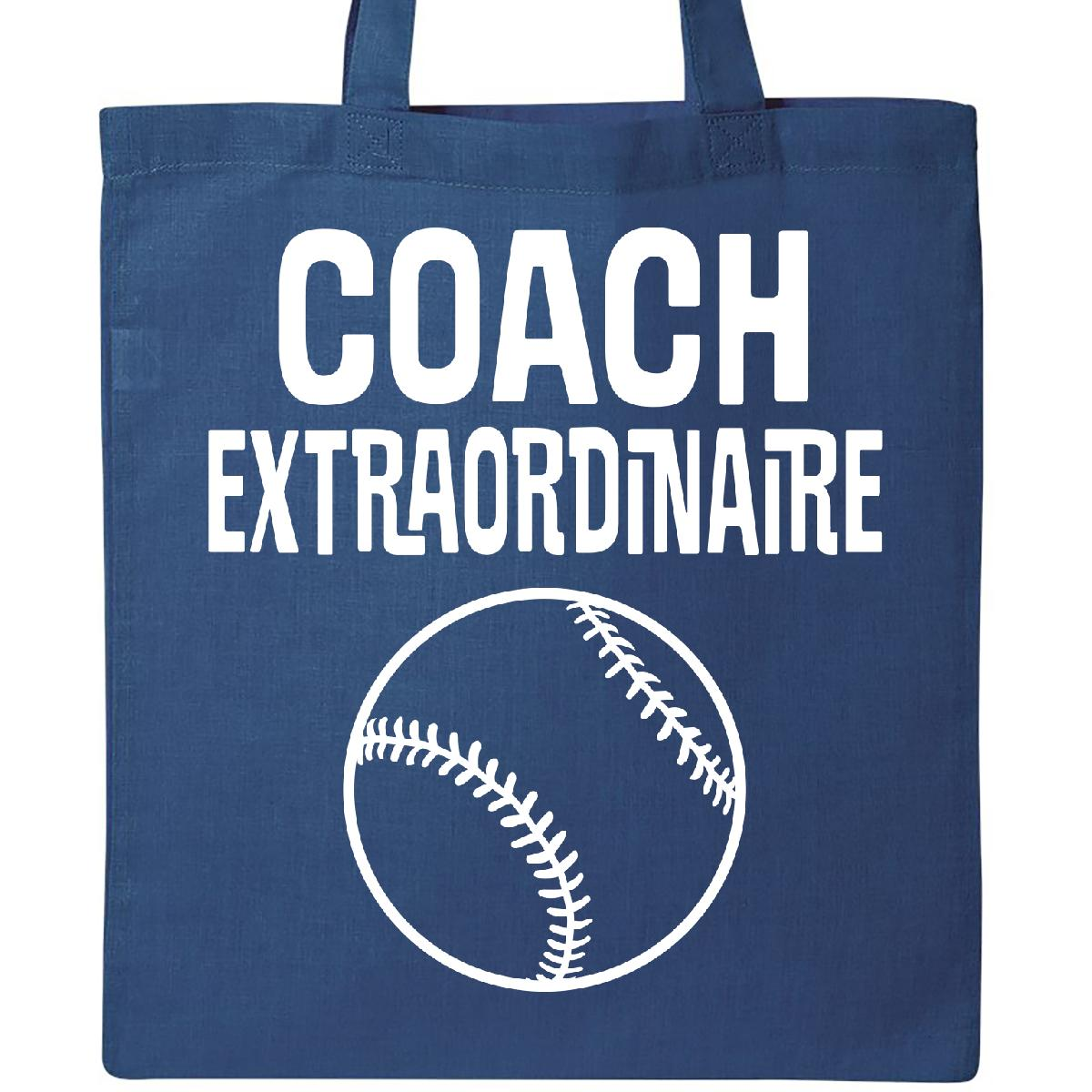 Inktastic Baseball Coach Extraordinaire Coaching Gift Tote Bag Staff Assistant by Inktastic