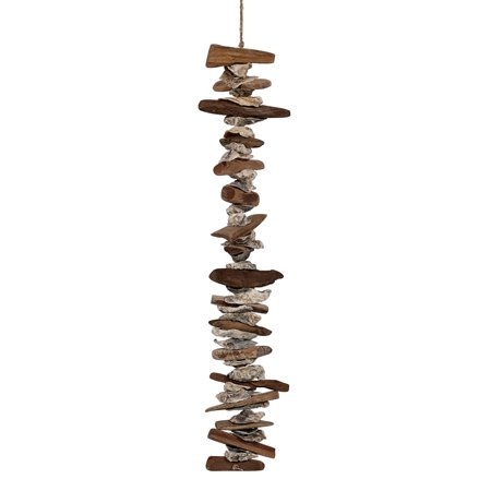 Nautical Hanging Decorations (Driftwood & Oyster Shells Garland 24