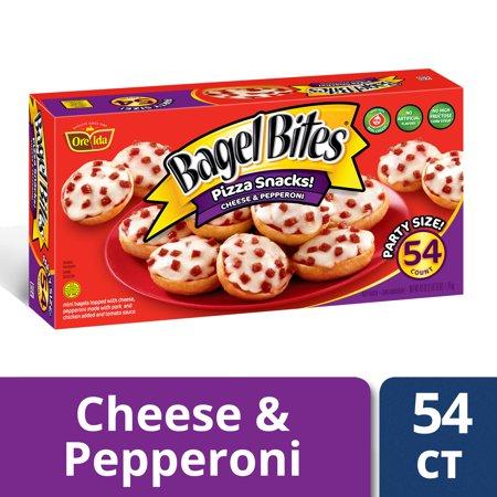 Bagel Bites Cheese Pepperoni Pizza Snacks 54 Count Box Walmart