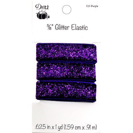 "Dritz Glitter Elastic 5/8""X1yd-Purple - image 1 of 1"