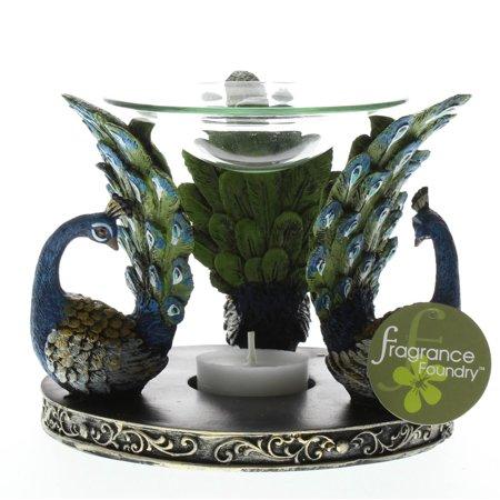 Hot Oil Warmer, Oil Warmer Candle Holder, Essential Peacock Plume Oil Warmer - Peacock Candles