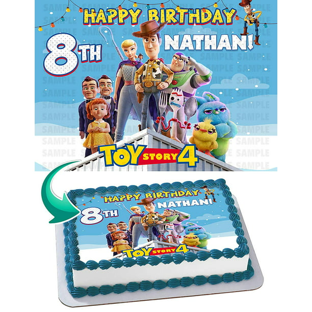 Phenomenal Toy Story 4 Edible Cake Image Topper Personalized Birthday Party 1 Birthday Cards Printable Trancafe Filternl