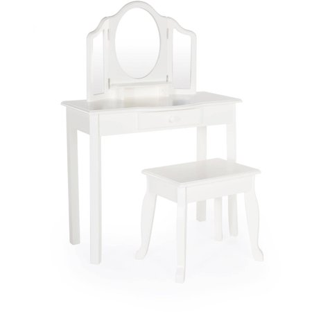 Guidecraft Classic Vanity And Stool White Walmart Com