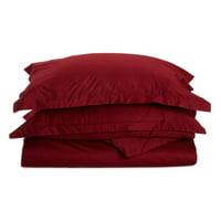 Superior 530 Thread Count 100% Premium Combed Cotton Solid Duvet Cover Set