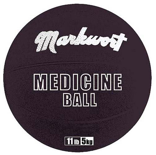 Rubber Medicine Training Ball from Markwort - 11 lbs/5 kg