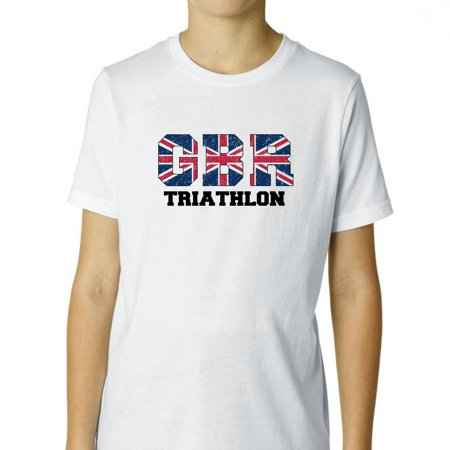 Great Britain Triathlon - Olympic Games - Rio - Flag Boy's Cotton Youth (British Triathalon)