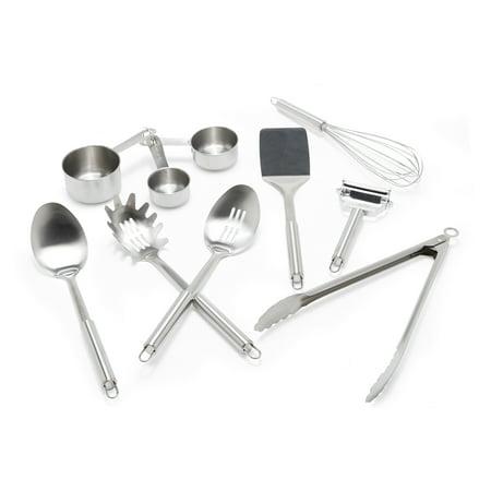 MoDRN Glam 10 Piece Stainless Steel Kitchen Utensils Clean Stainless Steel Utensils