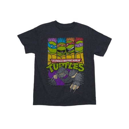 TMNT Shredder Attacks Short Sleeve Crew Neck Tee Shirt (Little Boys & Big Boys) (Ninja Turtle Costume Shirt)