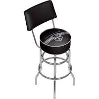NHL Swivel Bar Stool with Back, Los Angeles Kings