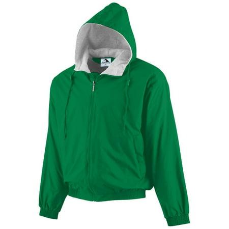 Augusta 3281 Youth Hooded Fleece Lined Taffeta Jacket