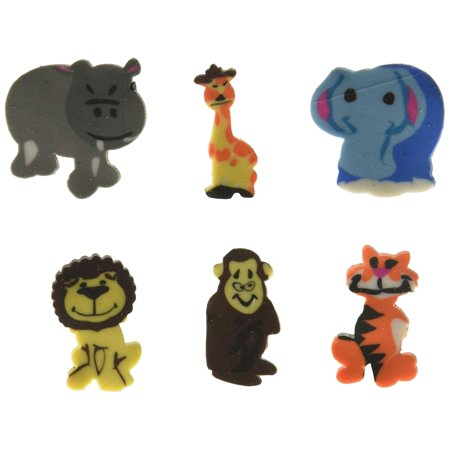 144 pcs Mini Zoo Animal Erasers Assortment (Safari Jungle), 144 Mini Animal Erasers - New in Sealed Package. By Rhode Island Novelty