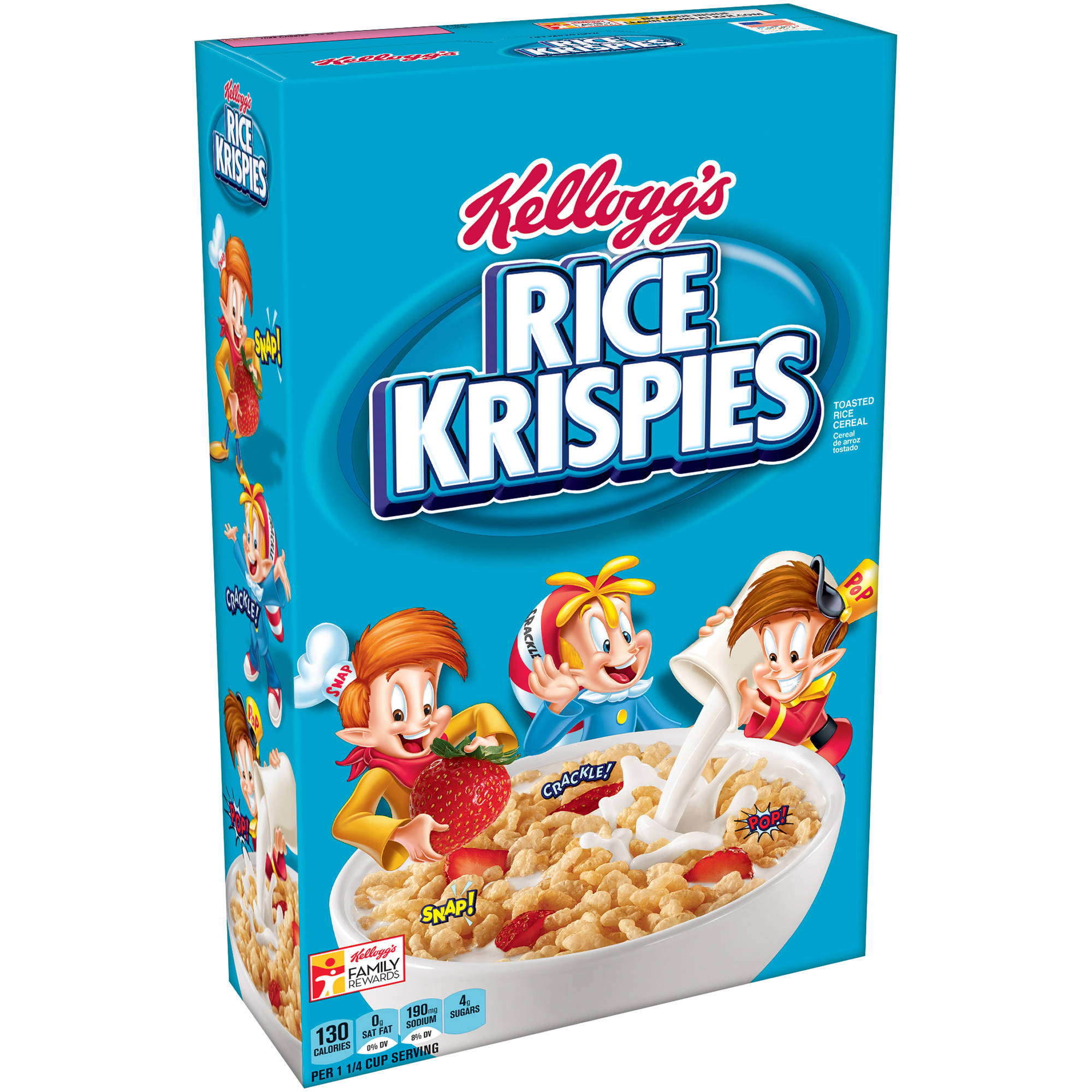 Kellogg's Rice Krispies Cold Cereal,  18 ounce Box