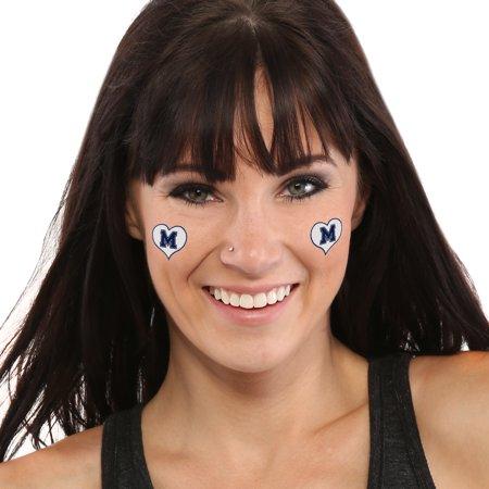 Memphis Tigers I Love My U 4-Pack Waterless Tattoos - No Size