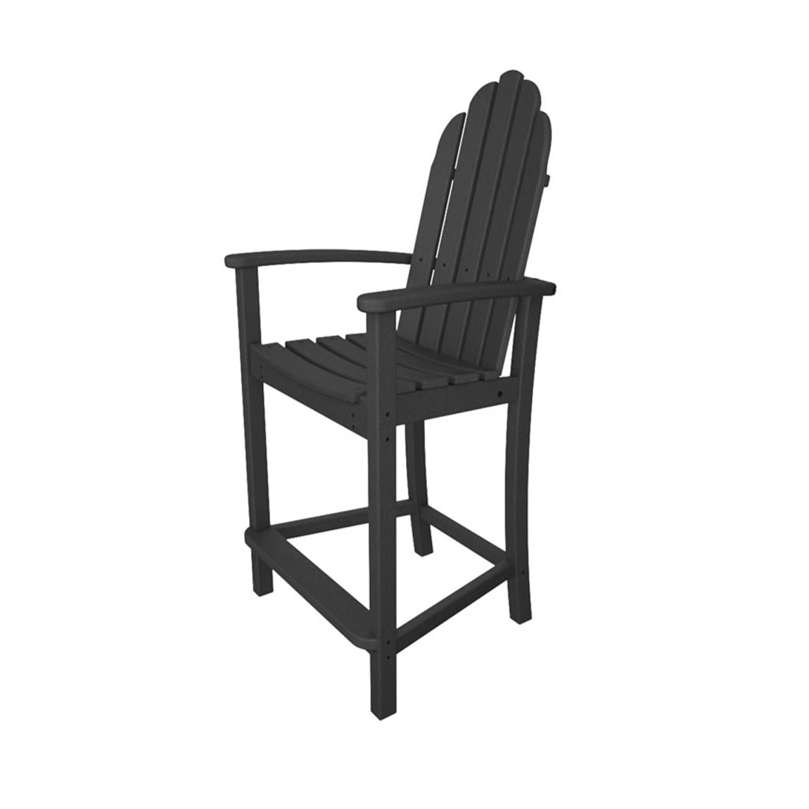Recycled Plastic Classic Adirondack Counter Height Chair by Poly-Wood Adirondack
