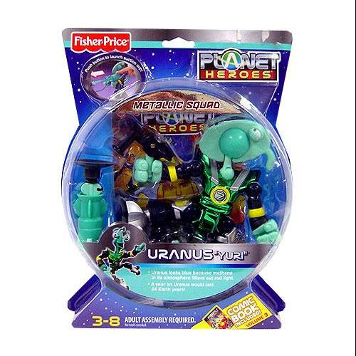Fisher-Price Planet Heroes Uranus Metallic Figure