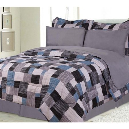 boys kids bedding alaska gray blue black bed in a bag. Black Bedroom Furniture Sets. Home Design Ideas