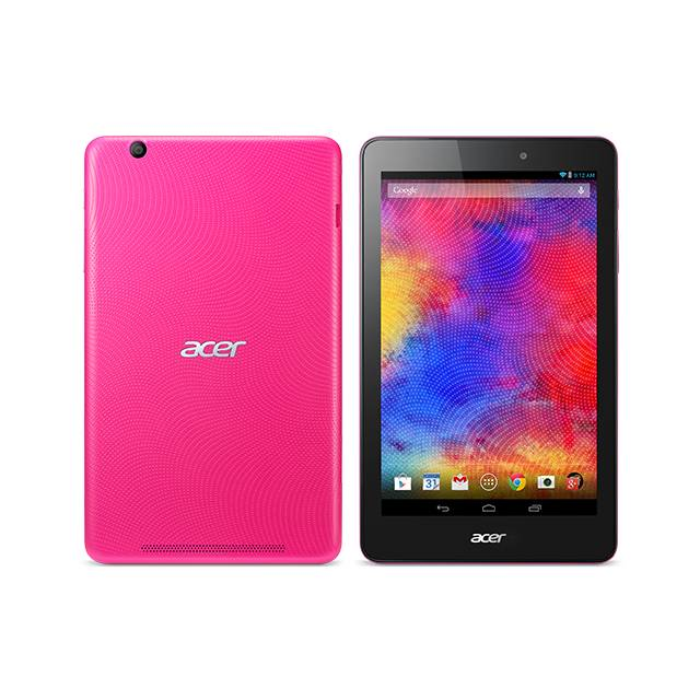 """Acer Iconia One 8"""" Tablet 16GB Intel Atom Z3735G Quad-Core Processor Android 4.4, Pink"""