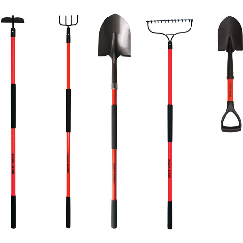Black & Decker 5-Piece Long-Handled Garden Tool Set by Garden Tools