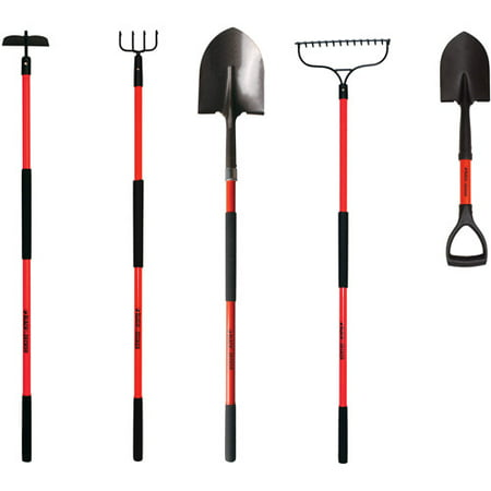 black decker 5 piece long handled garden tool set