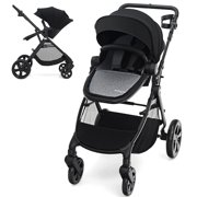Babyjoy Foldable High Landscape Baby Stroller w/ Reversible Reclining Seat Gray\Black