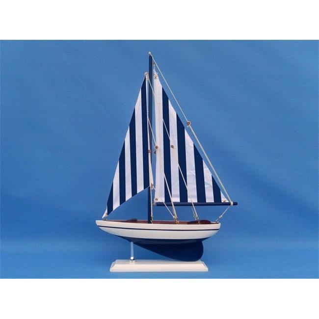 Handcrafted Decor nautical sailer 17 Wooden Nautical Sailer Model Sailboat Decoration, 17 in. by Handcrafted Decor