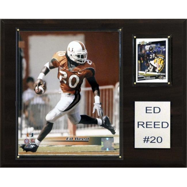 C&I Collectables NCAA Football 12x15 Ed Reed Miami Hurricanes Player Plaque