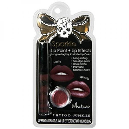 TATTOO JUNKEE WHATEVER LIP COLOR + LIP EFFECTS for $<!---->