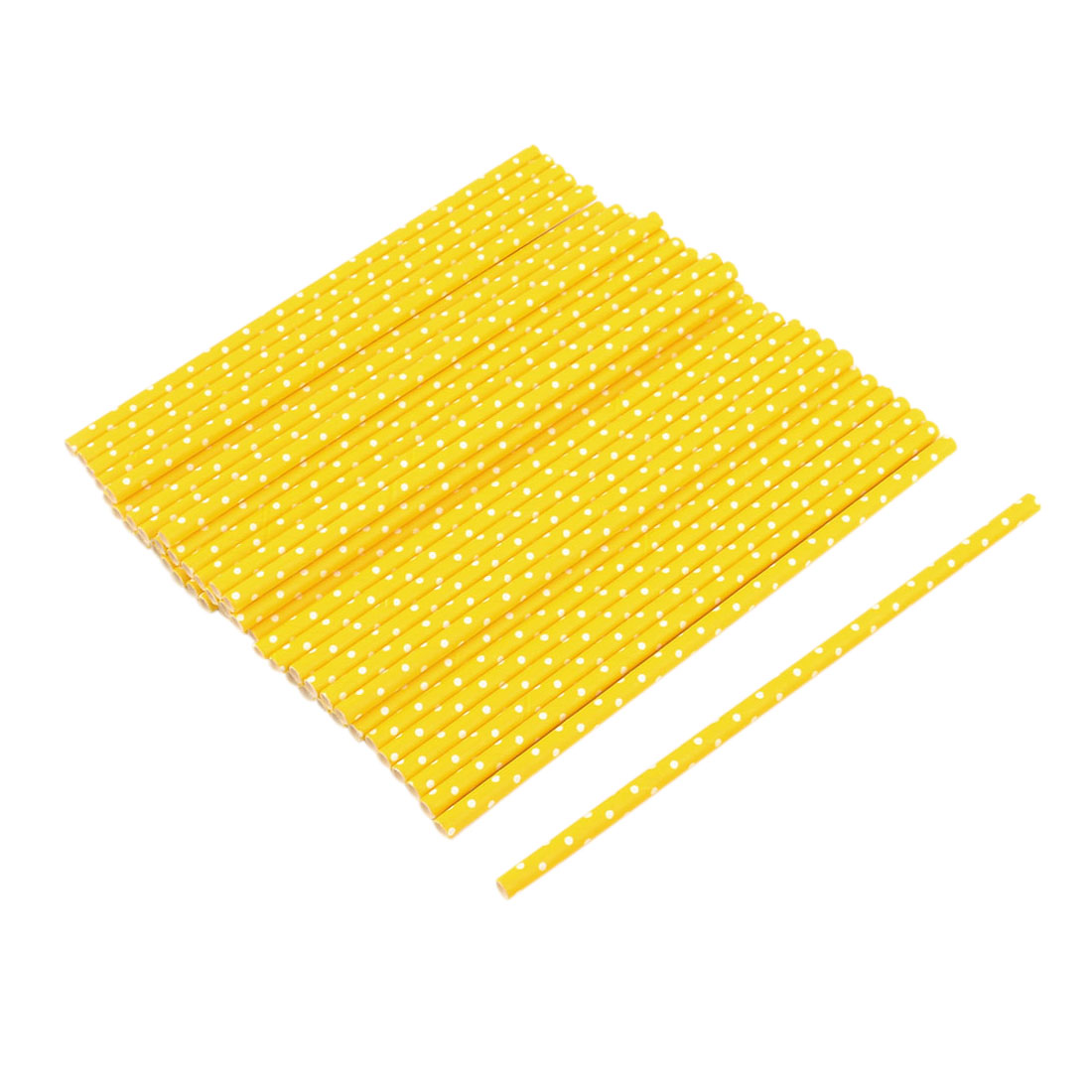 Household Paper Dot Pattern Juice Water Beverage Drinking Straws 50ct