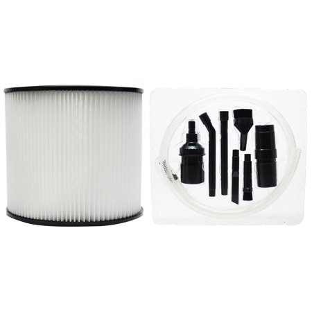 Replacement Shop-Vac Lowe's Wet/Dry Vac SL14-400 Vacuum Cartridge Filter with 7-Piece Micro Vacuum Attachment Kit - Compatible Shop-Vac 90304 Cartridge Filter - image 1 of 4