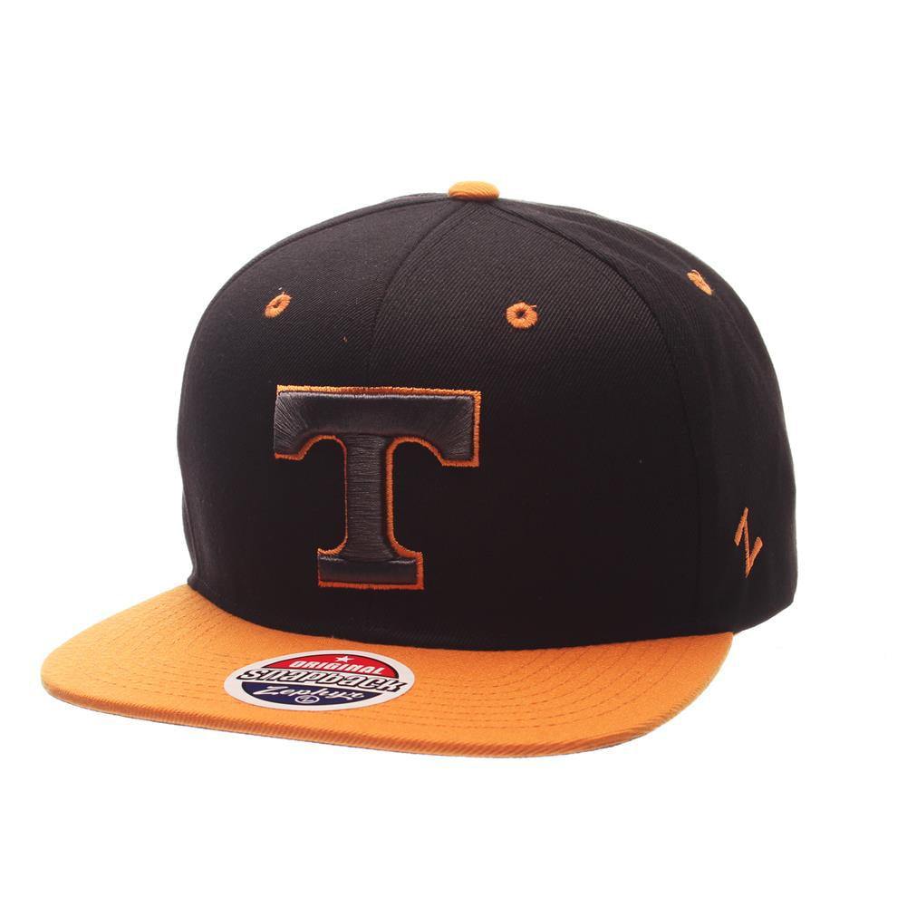 Tennessee Volunteers Vols UT Snapback Hat Zephyr Z11 Phantom Black Cap by Zephyr