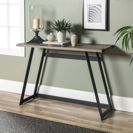 Manor Park Rustic Wood and Metal Console Table - Grey Wash ()