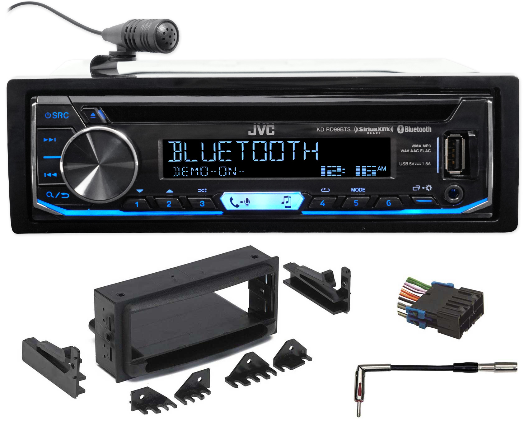 JVC CD Receiver w Bluetooth USB iPhone Android Sirius XM For 1998-2001 GMC Jimmy by JVC