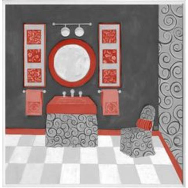 Stupell Industries WRP-998 Black-Red-White Vanity Square