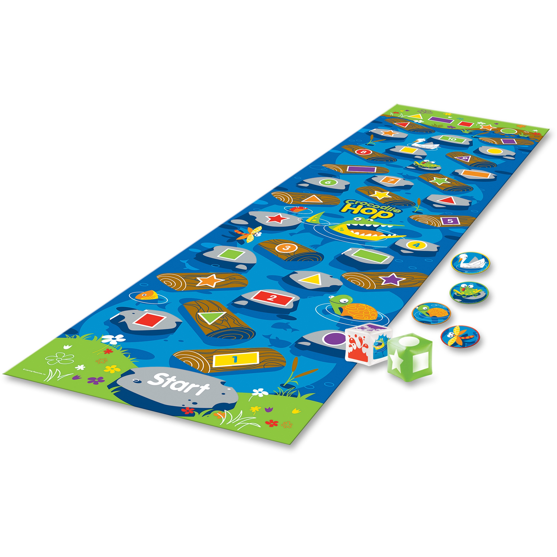 Learning Resources, LRNLER9544, Crocodile Hop Floor Game, 1 Each