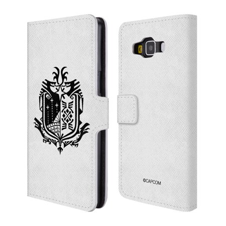 OFFICIAL MONSTER HUNTER WORLD LOGOS LEATHER BOOK WALLET CASE COVER FOR SAMSUNG PHONES 2 ()