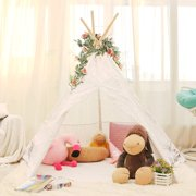 Lavievert Lace Teepee Children Indian Playhouse – Come with A Round Water Resistant Bottom Mat