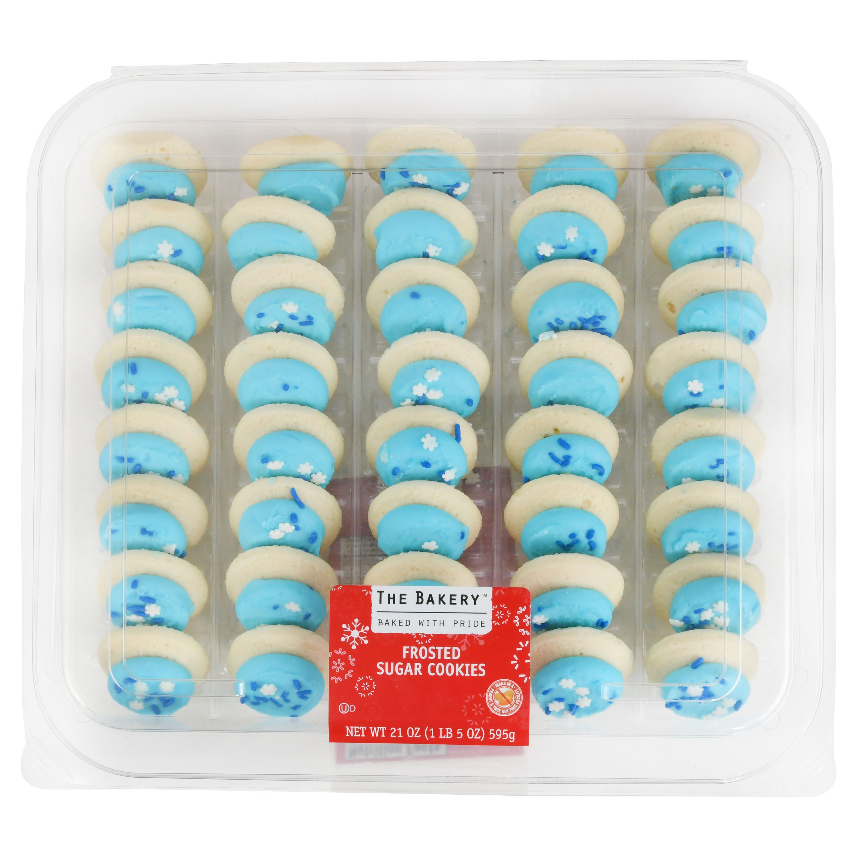 The Bakery Mini Christmas Frosted Sugar Cookies, 21 oz, 44 Count